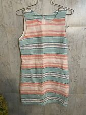 Island Company Striped 100% Linen Classic Shift Lined Dress- Size S