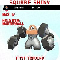 Pokemon Sword and Shield Square Shiny Melmetal 6IV FAST TRADING