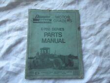 Champion Motor grader 740 D700 series parts manual catalog book