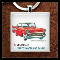 1957 Chevy Ad Photo Keychain 57' Chevy Gift Free Shipping Father's Day Gift 🎁