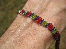 Huichol Bead Indian Bracelet Jewelry Art Hand Made Guadalajara Mexico A67