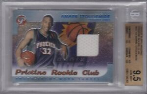AMARE STOUDEMIRE 2002-03 Topps Pristine Rookie Club Jersey RC BGS 9.5 Gem Mint