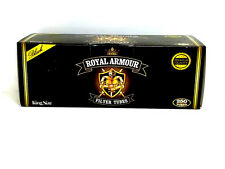 Royal Armour King Cigarette Tubes (box) 250 Filter Tubes NEW Black RYO