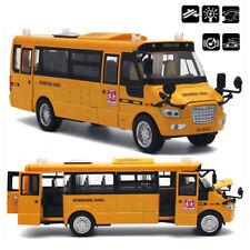 American Pull-Back Diecast Car School Bus Models Light & Music Alloy Kids Toy