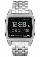 Nixon Base A1107-000 Black/Silver Stainless Steel Digital Quartz Unisex Watch