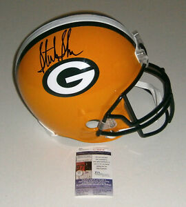 PACKERS Sterling Sharpe signed Full Size Replica helmet JSA COA AUTO Autographed