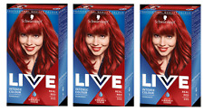 3x Schwarzkopf Live Intense Colour Real Red 035