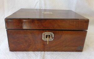 DEALER-RITA  Antique wooden lap/field desk wriying case wood box English