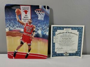 """MICHAEL JORDAN """"NO STOPPIN' THIS"""" UPPER DECK COLLECTOR PLATE WITH COA"""