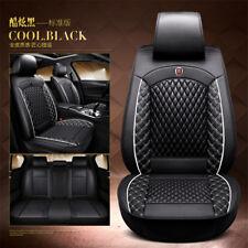 USA Shipping 5D Surround Luxury Full Seat PU Leather Cushion Pad Black Universal