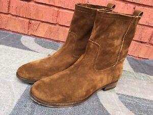 Frye Women's Cara Short Suede Boot Size 10 B.