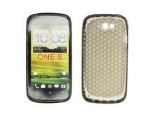 Housse Etui Coque Silicone Gel Noir Diamand ~ HTC ONE S