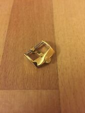 18mm Gold Plated Buckle Replacement for Rolex Leather Watch Strap