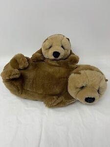 "Lou Rankin Lifelong Friends Plush 15"" Oswell Otter w/ Baby Dakin Artist Series"