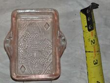 Vintage Pink Depression Glass Ashtray Pink Queen of SPades