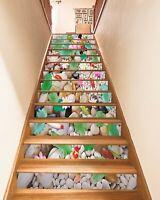 3D Kopfsteinpflaster ZHU230 Stair Risers Dekoration Fototapete Vinyl Tapete Amy