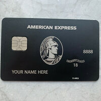 Customizable 2020 Newest Amex Express Black Metal Finish Card American Centurion