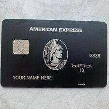 Customizable 2020 Newest Amex Express Black Metal Finish Card American Centurion