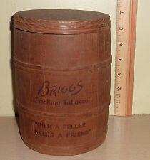 "Empty 7"" tall Wood Keg Humidor ~ Briggs Smoking Tobacco"
