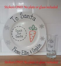 Christmas Eve Plate Decals , Personalised , Santa Plate. **Stickers Only**