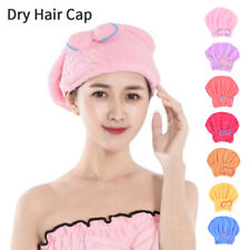 Women Cap  Microfiber Dry Hair Hat Solid Quickly Dry Hat Turban  Bathing  ToYZY