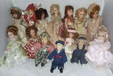 14 Dolls Miniature Some Vintage Story Book Dolls 1 Madame Alexander Plus Others
