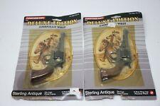 (2) Tootsie Toy DeLuxe Edition American West Cap Gun Carson Die Cast 1991 NIP