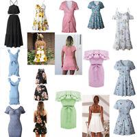 Dress Cocktail Boho Party Dresses Short Evening Summer Sundress Beach Women Maxi