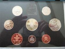 1994 Royal Mint Proof Coin set housed in blue case, Normandy 50p Bank £2 coin.