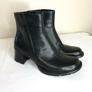 Timberland Women's Black Leather Smart Comfort System Ankle Boots 8.5 M Heels