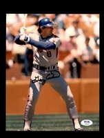 Gary Carter PSA DNA Hand Signed 8x10 Mets Photo Autograph