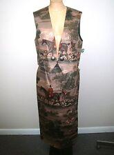 Women's Vintage Wraps Western Vest & Skirt - Made in Texas - Size Medium