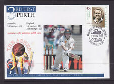 SOUVENIR COVER: CRICKET 2002 THE ASHES 3RD TEST PERTH AUSTRALIA BY 48