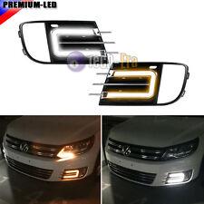 Switchback LED Daytime Running Light DRL w/ Turn Signal Kit For 13-16 VW Tiguan