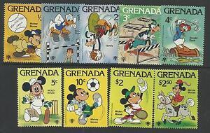 GRENADA 1979 DISNEY YEAR of CHILD SPORTS GOLF CRICKET TENNIS Complete Set 9v MNH