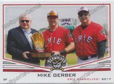 2017 Erie SeaWolves Mike Gerber RC Rookie Detroit Tigers