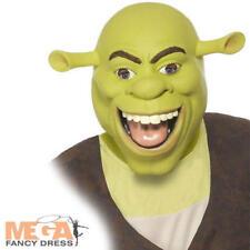 Shrek Mask Mens Fancy Dress Adult Fairytale Movie Costume Accessory Mask