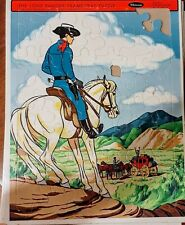Set  of 2 Puzzles 1958 Train Frame Tray Puzzle Horse Foal + Lone Ranger 1968