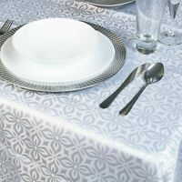 Damask White Flower Jacquard Tablecloths Rectangle Table Cloth Tableware Dining