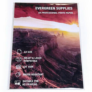 50 Sheets A4 Photo Paper 120 gsm Double Sided Glossy High Quality Printing