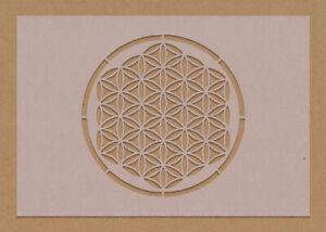 Flower Of Life Sacred Geometry Stencil A6 A5 A4 A3 Yoga Hippy