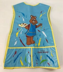 Vintage Rare 1985 The World of Teddy Ruxpin Painting Craft Apron Smock