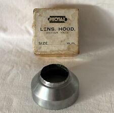 Vintage Boxed Metal Photax Lens Hood