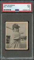 1948 Bowman BB Card # 32 Bill Rigney New York Giants ROOKIE CARD PSA NM 7 !!!