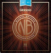 D'Addario NB1253 Nickel Bronze Acoustic Guitar Strings Light Gauge