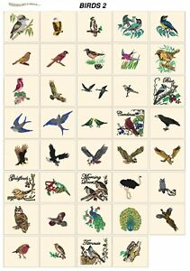 BIRDS 2 CD or USB machine embroidery designs files most formats pes etc animals