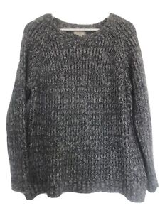 Fat Face Grey Marl Fishermans Jumper - Ladies Size 10/12