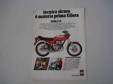 advertising Pubblicità 1977 MOTO GILERA TG1 125