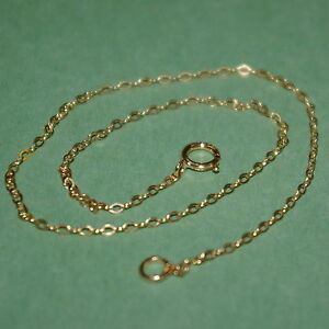 14kt GOLD FILLED Fine 1.5x2mm Flat CABLE Chain ANKLET Custom made to your size
