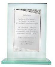 Exklusiver Glaspokal mit Gravur Pokal aus Glas Weihnachtsgeschenk Geburtstag NEU
